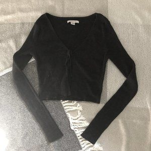 AE Cropped Tie Up Cardigan